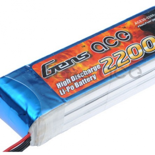 Gens ace 2200mAh 11.1V 30C 3S1P Lipo Battery
