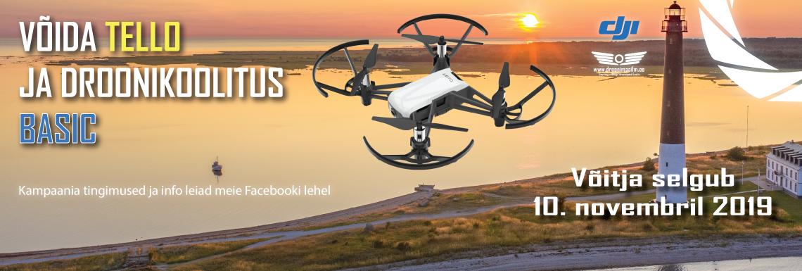 Võida droon Tello ja droonikoolitus BASIC