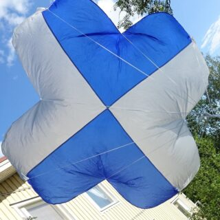 PARACHUTE 158X158 FOR 4,6- 5,8 KG DRONE OR FIXED WING