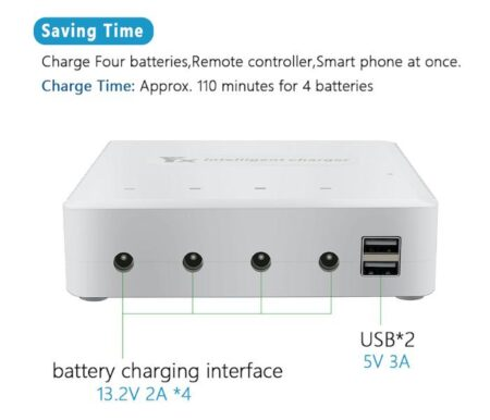 6in1 Battery Charger with Storage Function