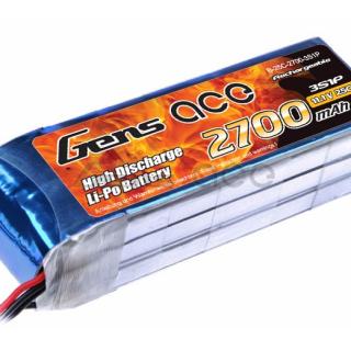Gens ace 2700mAh 11.1V 25C 3S1P Lipo Battery