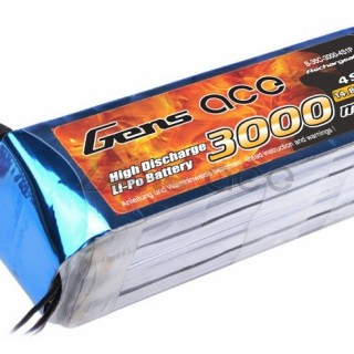 Gens ace 3000mAh 14.8V 35C 4S1P Lipo Battery Pack