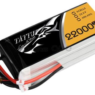 Tattu 22000mAh 22.2V 25C 6S1P Lipo Pack