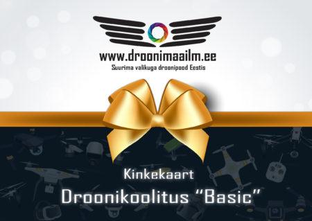 """Kinkekaart - Droonikoolitus """"Basic"""""""