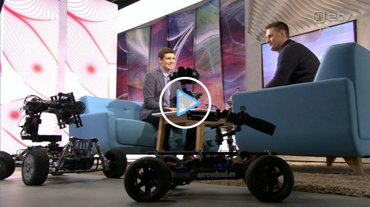 Droonimaailma juht rääkis ETV Terevisiooni saates kaugjuhitavatest autodest, mis filmivad…
